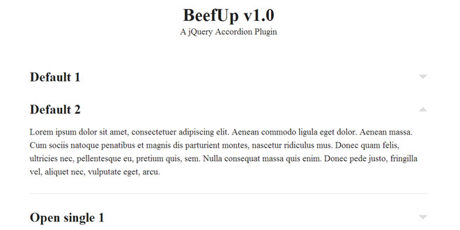 BeefUp - jQuery Accordion Plugin