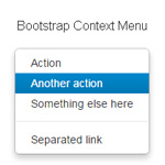 Bootstrap Context Menu