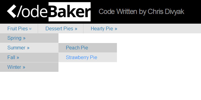 Easy As Pie - Responsive Navigation