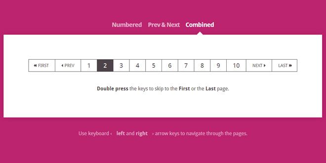Keyboard Shortcuts for Pagination