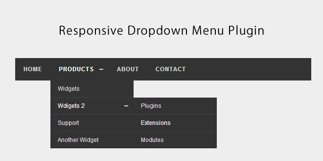 Responsive Dropdown Menu Plugin