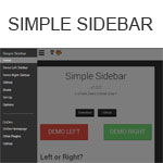 Simple Sidebar - A simple jQuery sidebar plugin