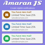 Amaran JS - Create stylish notifications