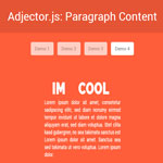 Adjector.js - A Minimal and Elegant Content Flipper