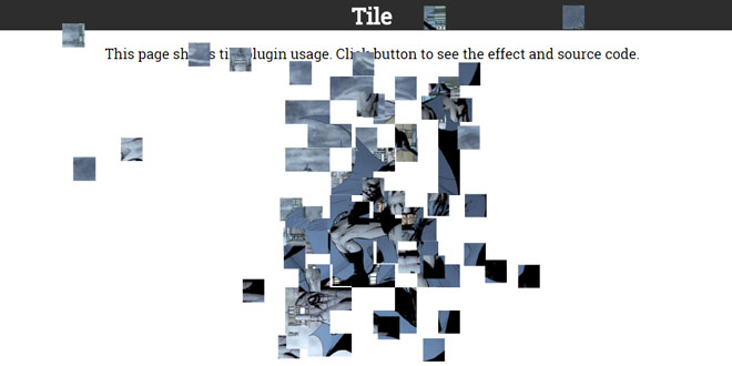 jQuery Animations Tile