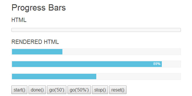 jQuery asProgress - Animate the progress bar.