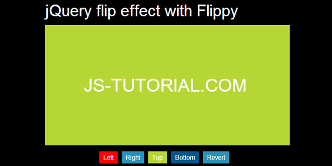 Flippy - jQuery flip effect plugin