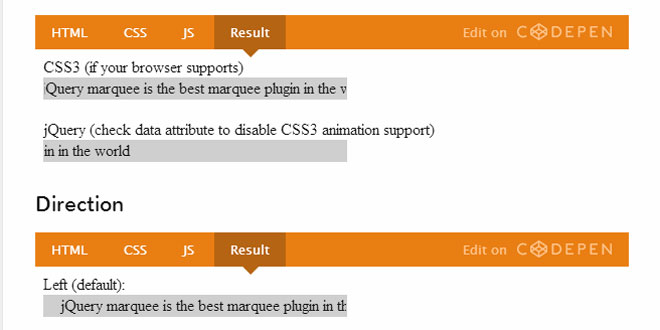 jQuery Marquee with CSS3 Support