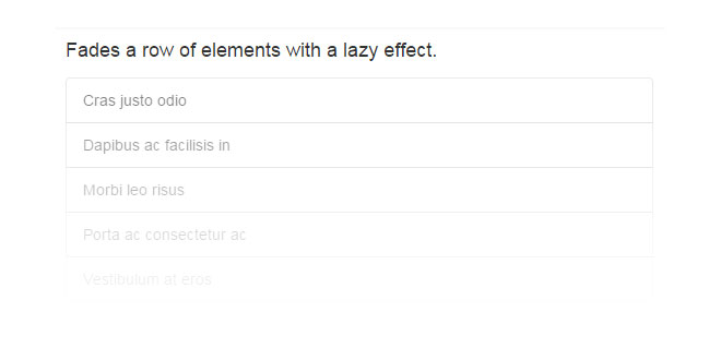 lazyFade.js - Fades a row of elements with a lazy effect