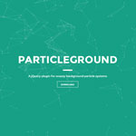 Particle ground -  Snazzy background particle systems