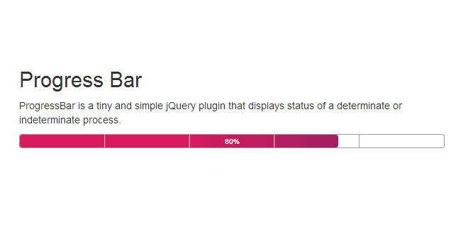 Progress Bar - Tiny and simple jQuery plugin