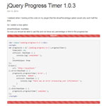 jQuery Progress timer