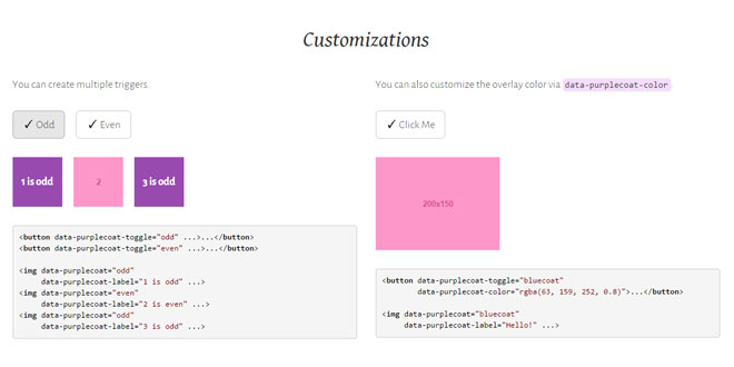 Purplecoat.js - Simple Labeled Overlays