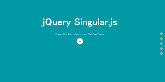 Singular.js -  Create SinglePage Website