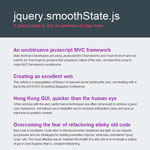 jQuery smoothState - Stop the jankiness of page loads