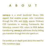 Sweep.js - Smoother color transitions