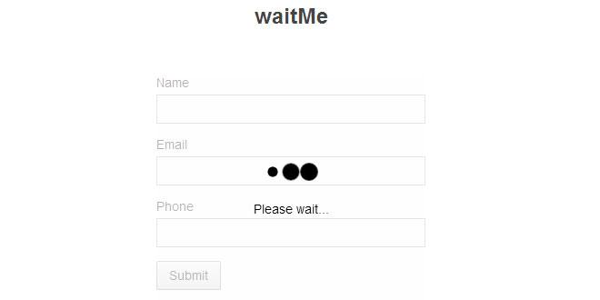 waitMe - Easy creating loading css3 animations
