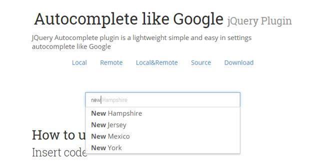 Autocomplete like Google