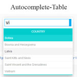 Autocomplete Table - Autocomplete in the form of table