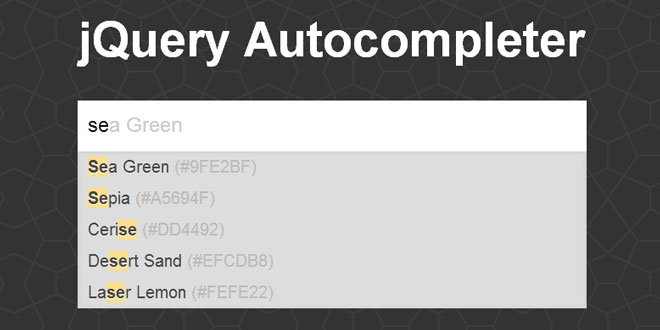 jQuery Autocompleter - Simple, easy, customisable and cache
