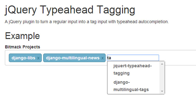 jQuery Typeahead Tagging