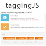 taggingJS - jQuery plugin to tagging like a charm
