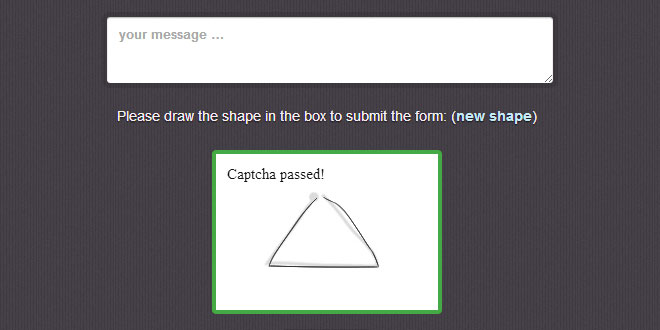 Motion CAPTCHA – Stop Spam, Draw Shapes
