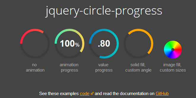 jQuery Circle Progress - Draw animated circular progress bars