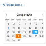 Pikaday datepicker