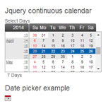 Continuous calendar - Date picker and range selector