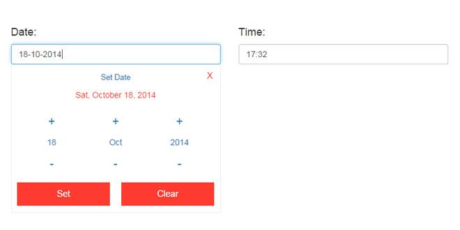 DateTime Picker - Responsive flat design