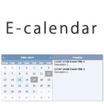 E-calendar - Create a calendar with events
