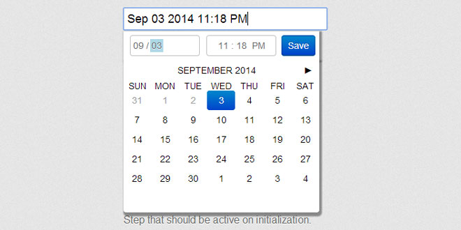 jQuery Filthypillow -  Calendar and date-time picker