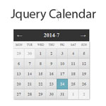 jQuery calendar - Simple calendar and date picker