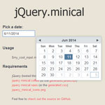 jQuery.minical - a lightweight datepicker plugin