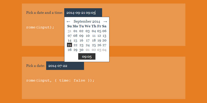 Rome - A customizable date and time picker.