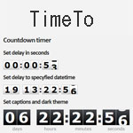 TimeTo  - Timer countdown digital clock
