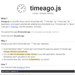 Timeago.js - Format datetime with time ago statement