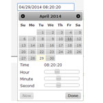 Timepicker addon adds a timepicker to jQuery UI Datepicker