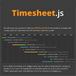 Timesheet.js - Simple HTML5 & CSS3 time sheets
