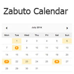 Zabuto Calendar - Add a month calendar to your web page