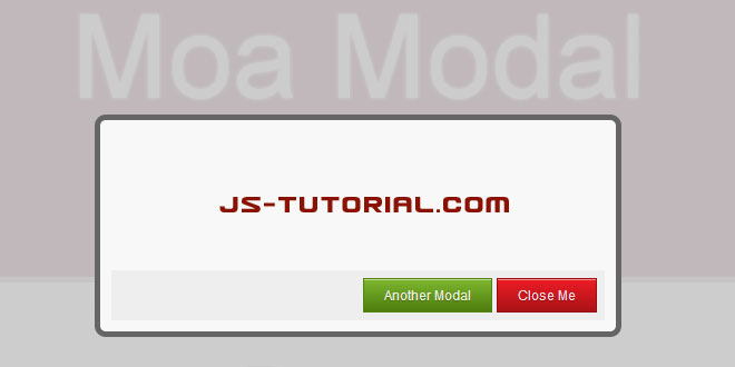 Moa Modal - Flexible jQuery modal plugin
