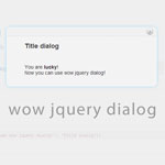 wow jquery dialog - The lightweight jQuery dialog