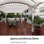 jQuery Cyclotron - Drag the image above around