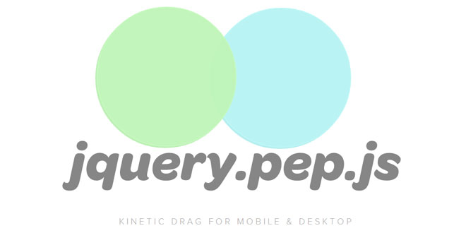 jQuery.pep.js - Kinetic drag for mobile & desktop