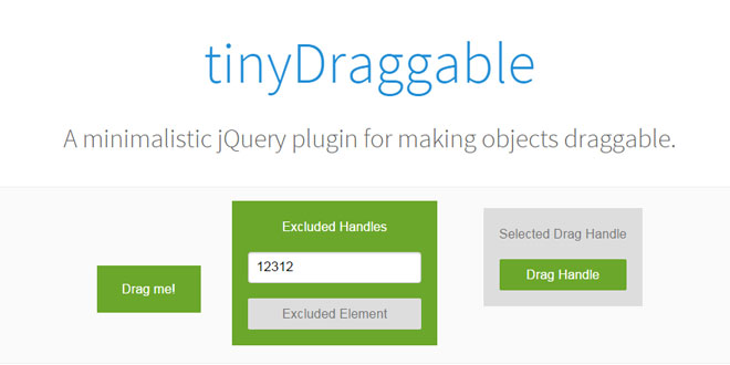 tinyDraggable - Making objects draggable