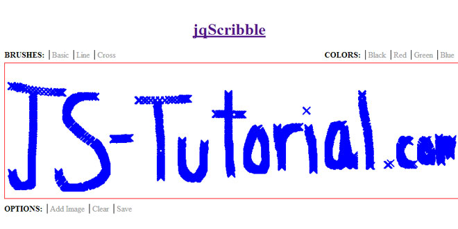 jqScribble - jQuery plugin for drawing on a canvas