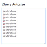 jQuery Autosize - Automatically adjust textarea height