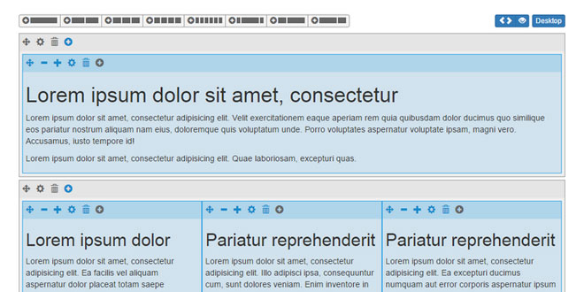 Grid Editor - Editor for the bootstrap grid system