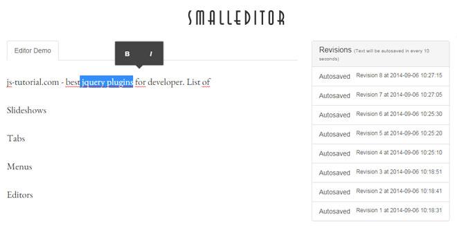 Js Tutorial - Smalleditor - Small WYSIWYG editor